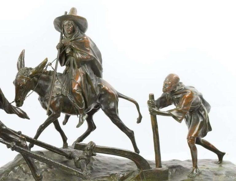 Paysans Arabes el Leur Dromadaire - Sculpture by Edouard Drouot