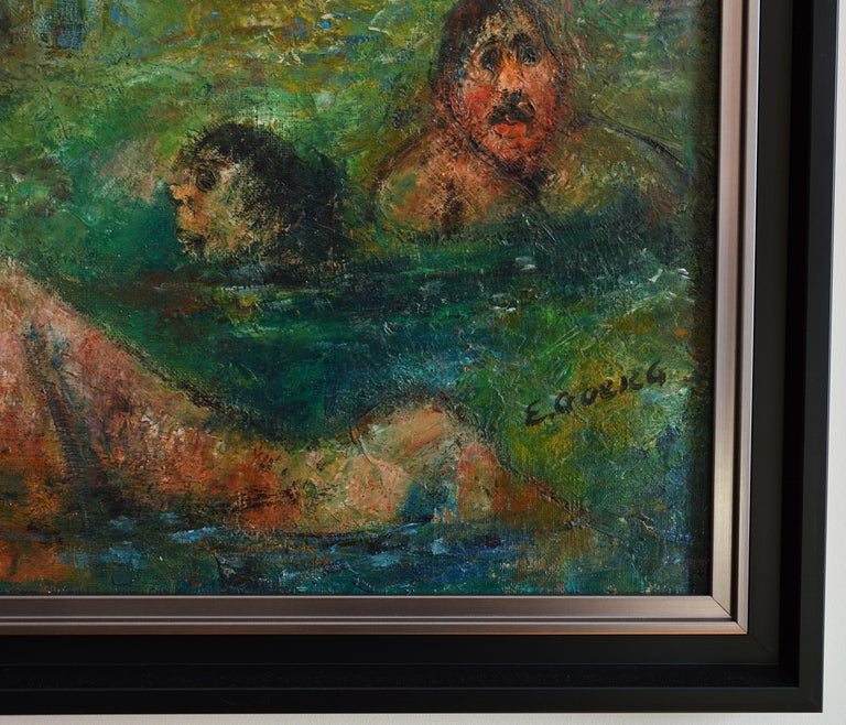 Toujours la Vie Recommence - Expressionist Painting by Edouard Goerg