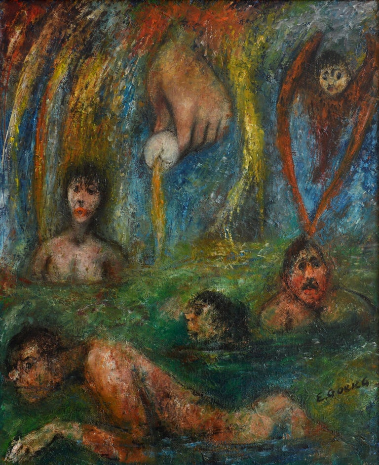 Edouard Goerg Figurative Painting - Toujours la Vie Recommence
