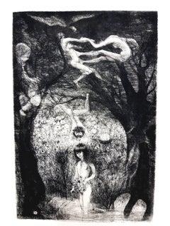 Edouard Goerg - Magic Jungle - Original Etching