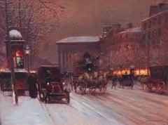 Boulevard de la Madeleine in Winter