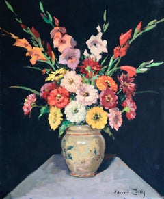 Bouquet de Fleurs - Impressionist Oil, Still Life of Flowers by Edouard Cortes
