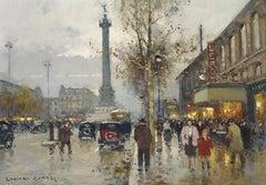 La Place de la Bastille, Paris