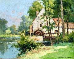 Le Moulin de Trotté près de Saint Céneri-le-Gerei- 19th Century Landscape Cortès
