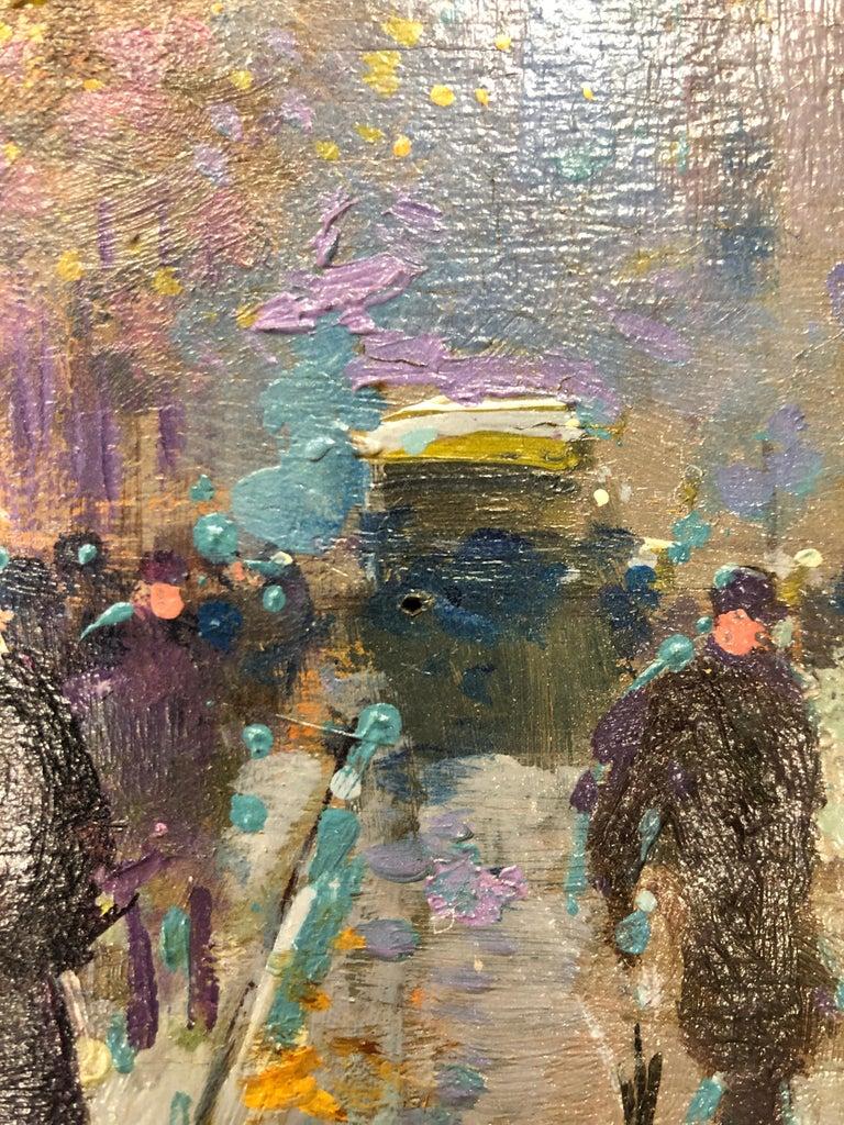 Paris Flower Market - Post-Impressionist Painting by Édouard Leon Cortès