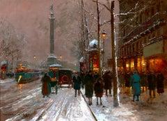 Place de la Bastille, Winter