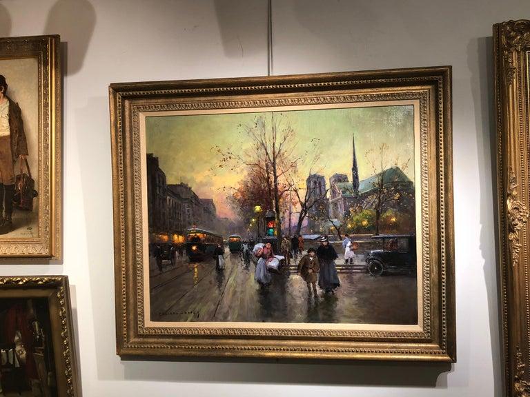 Quai de la Seine, Notre Dame aux Printemps For Sale 1