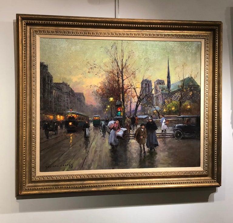 Quai de la Seine, Notre Dame aux Printemps For Sale 2