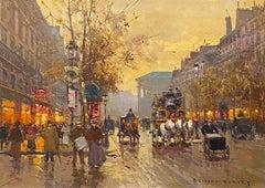 Rue De La Madeleine at Dusk