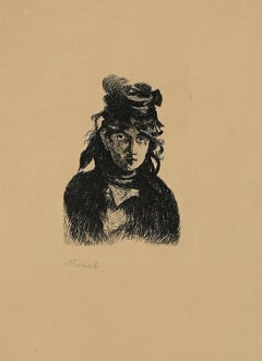 Berthe Morisot - Original Etching by Edouard Manet - 1872 (printed in 1910/12)