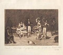 Danseurs Espagnols - Original Etching by Edouard Manet - 1878