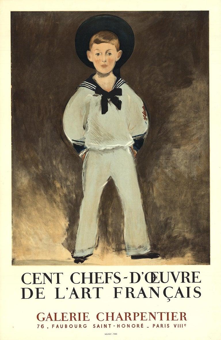 """Edouard Manet-Cent Chefs-D'oeuvre De L'Art Francais-29.75"""" x 19.25""""-Lithograph - Print by Edouard Manet"""