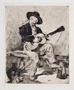 Le Chanteur Espagnol ou Le Guitarrero, Etching