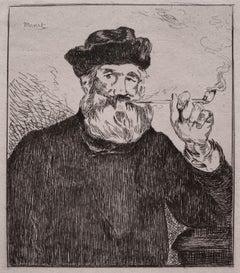 Le Fumeur (The Smoker, French Impressionist male portrait)