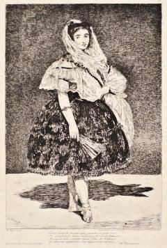 Lola de Valence - Original Etching by Edouard Manet - 1862