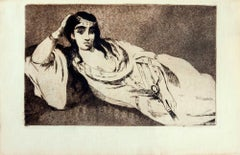 Odalisque - Original Etching by Edouard Manet - 1868 ca.