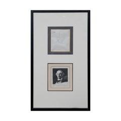 Pair of Portrait Etchings of Charles Baudelaire