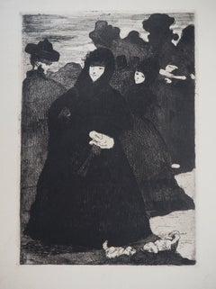 Spain : Women at Prado - Original Etching (Guerin #46 & Fisher #47)