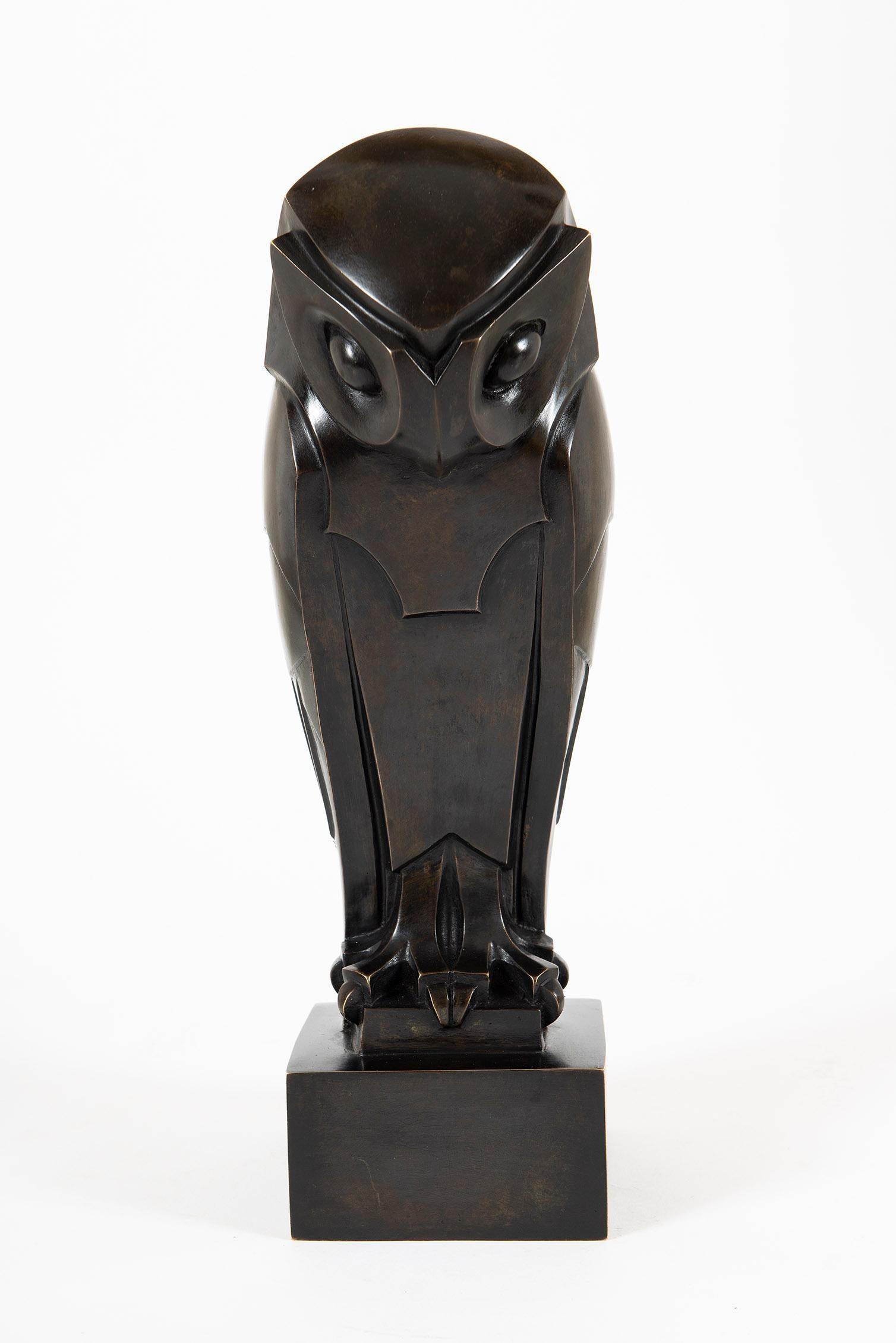 Hibou, Owl, Sculpture, Art Deco, Sculpture, Modern Art, Bronze, Animal, Cast