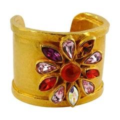 Edouard Rambaud Vintage Jewelled Cuff Bracelet