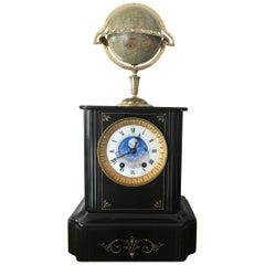 Edouard Serin, Paris, Globe Clock, circa 1880