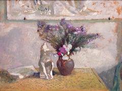 Nature Morte avec Leda, Édouard Vuillard (Impressionist Still Life Painting)