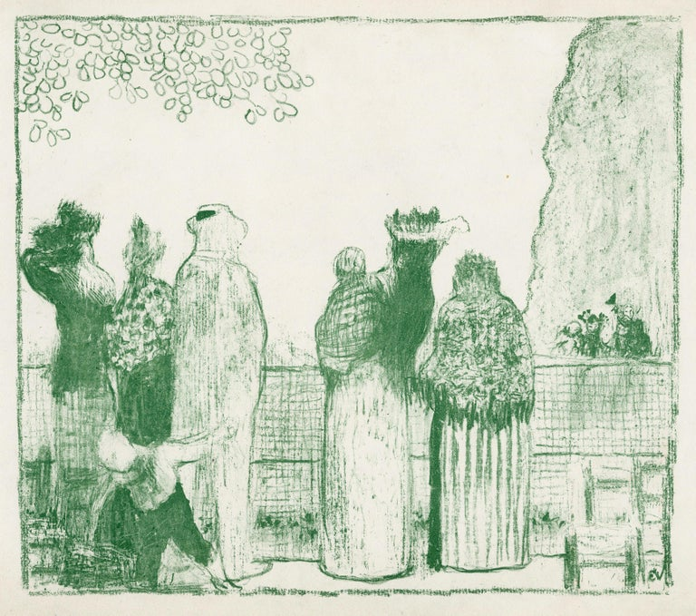 Edouard Vuillard Figurative Print - Croquis (Les Tuileries)
