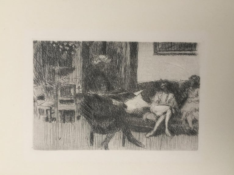 Interieur au Canope - Gray Figurative Print by Edouard Vuillard