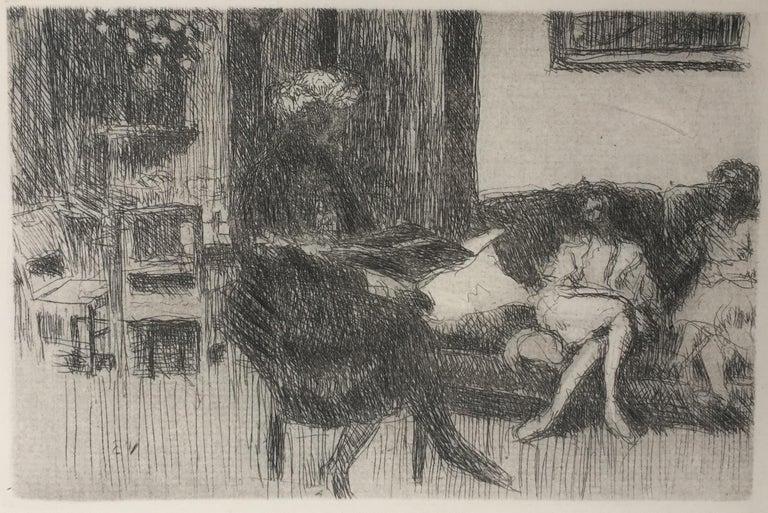 Edouard Vuillard Figurative Print - Interieur au Canope