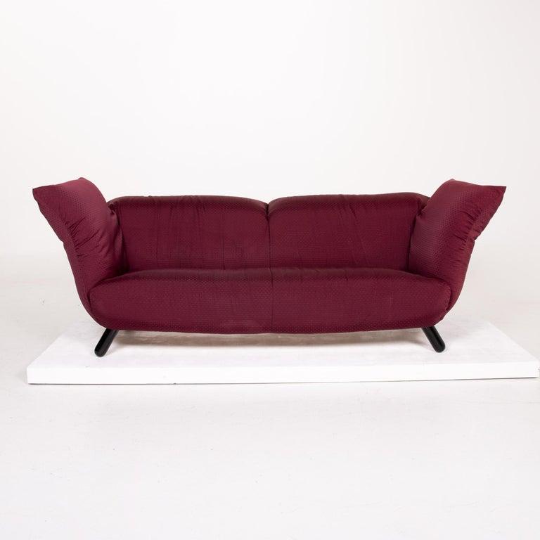 Modern Edra Bilbo Fabric Sofa Purple Two-Seat Function Gianfranco Gualtierotti Couch