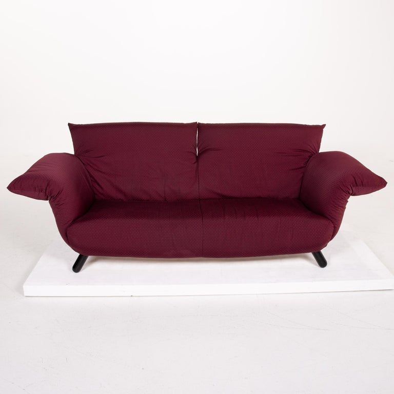 Contemporary Edra Bilbo Fabric Sofa Purple Two-Seat Function Gianfranco Gualtierotti Couch