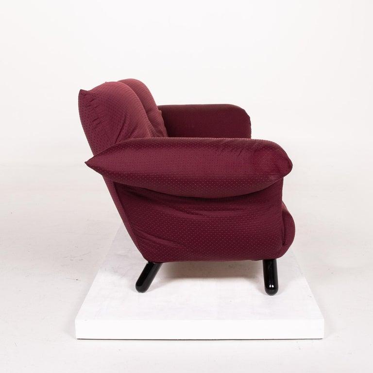 Edra Bilbo Fabric Sofa Purple Two-Seat Function Gianfranco Gualtierotti Couch 1
