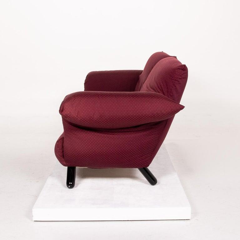 Edra Bilbo Fabric Sofa Purple Two-Seat Function Gianfranco Gualtierotti Couch 3