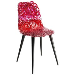 Edra Gina Chair - Rosso Rubino by Jacopo Foggini