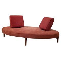 """Edra """"No Stop"""" Elliptical Pink Sofa, Italy, Maarten Kusters, 1987"""