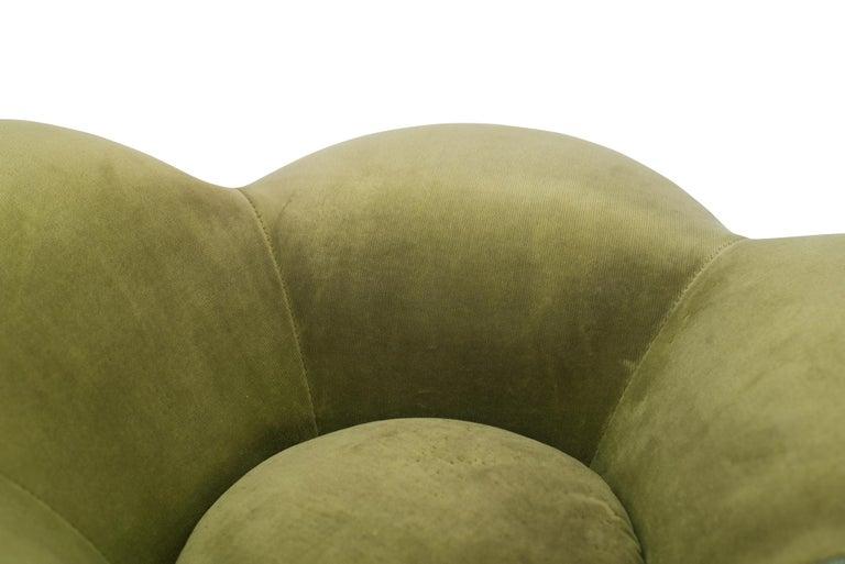 Edra Soshun Low Stools in Green Velvet by Masanori Umeda 6