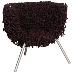 Edra Vermelha Fabric Armchair Brown Chair