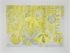 Flowers - Original Etching by Eduard Bargheer - 1975