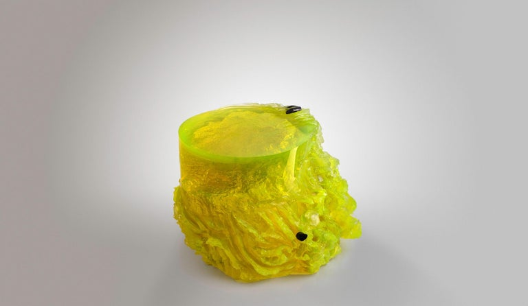 Materiality Vol.2 Side Table / Stool by Eduard Locota, Resin Acrylic Sculpture For Sale 3