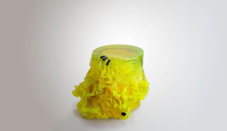 Modern Materiality Vol.2 Side Table / Stool by Eduard Locota, Resin Acrylic Sculpture For Sale