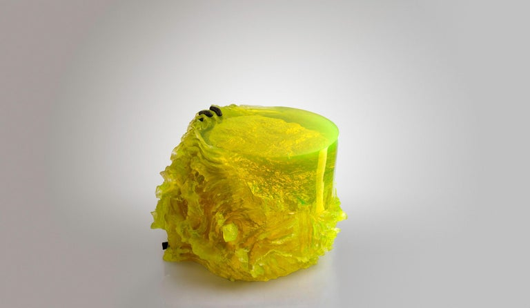 Balkan Materiality Vol.2 Side Table / Stool by Eduard Locota, Resin Acrylic Sculpture For Sale