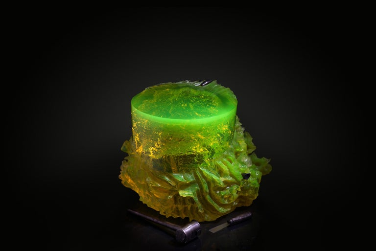 Bronze Materiality Vol.2 Side Table / Stool by Eduard Locota, Resin Acrylic Sculpture For Sale