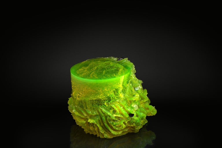 Materiality Vol.2 Side Table / Stool by Eduard Locota, Resin Acrylic Sculpture For Sale 1