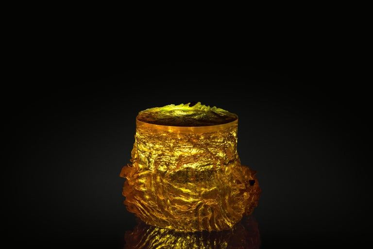 Materiality Vol.2 Side Table / Stool by Eduard Locota, Resin Acrylic Sculpture For Sale 2