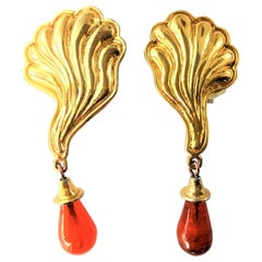 EDUARD RAMBAUD PARIS ear clips gold plated about 1980/90