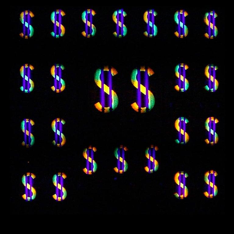 Belgian Eduard Van Giel, One of a Kind, Dollars,  Homage to Andy Warhol For Sale