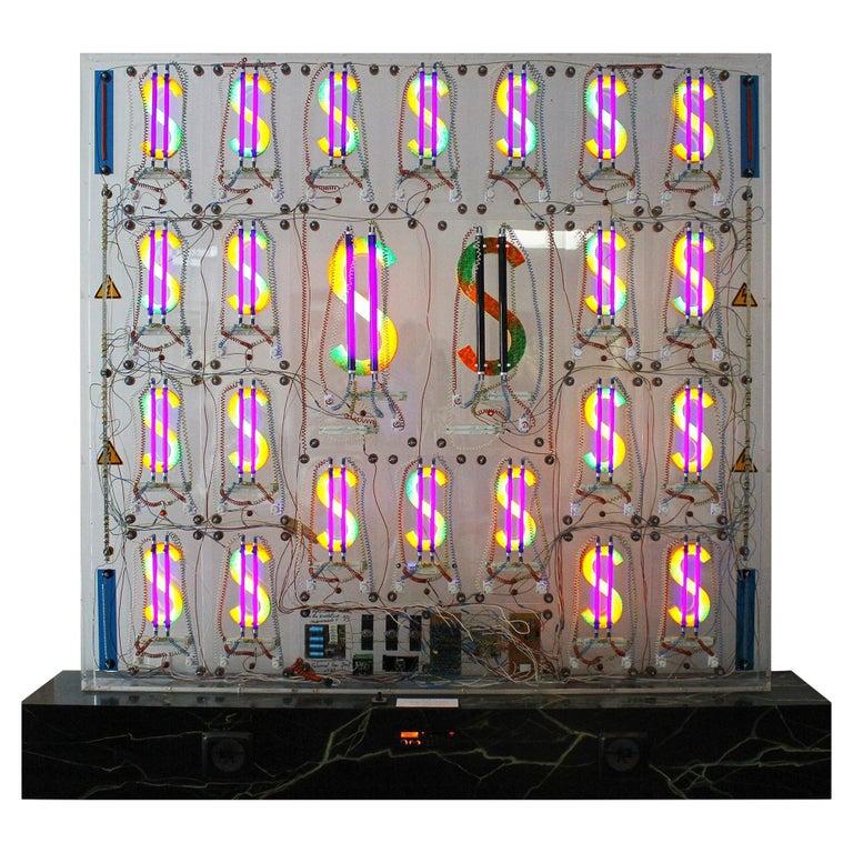 Eduard Van Giel, One of a Kind, Dollars,  Homage to Andy Warhol For Sale