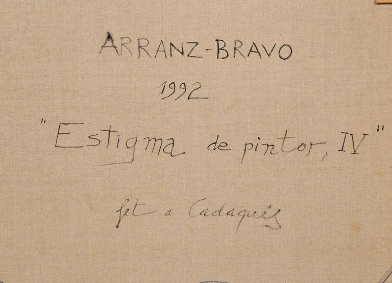 Estigma de Pintor, IV - Red Abstract Painting by Eduardo Arranz-Bravo