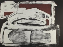 EDUARDO ARRANZ-BRAVO: Casa Morena (Brown House) Lithograph on paper. Abstraction