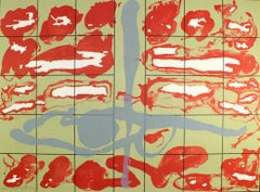 EDUARDO ARRANZ-BRAVO: Casa Roja (Red House) Lithograph on paper. Abstraction
